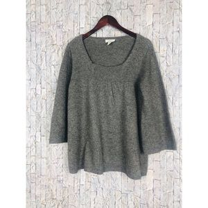 Ann Taylor Loft Gray Long Sleeve Sweater